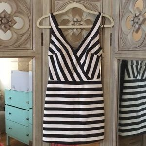 Zara striped romper dress